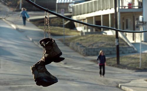 Shoefiti Story in Lawrence Journal-World
