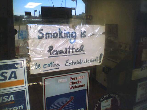 Smoking is Permitted