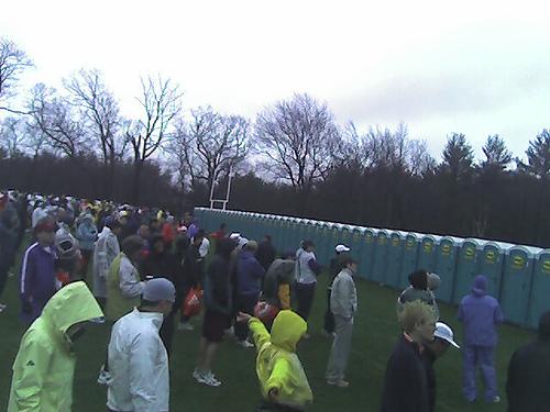 Bathrooms at Boston Marathon