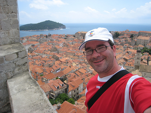 Ed on Dubrovnik's City Wall
