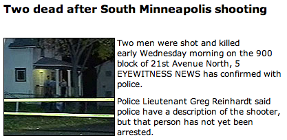 KSTP Shooting in North Minneapolis