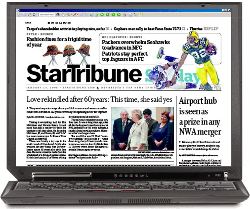 StarTribune Jan 13th Front Page