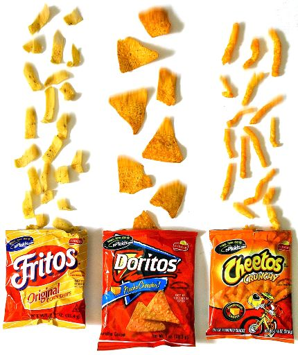 Fritos, Doritos, and Cheetos