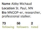 MNGOP-er, researcher, professional stalker.