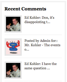 Most Recent Comments on Don Allen's Blog