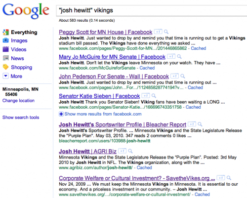 Josh Hewitt: Vikings Corporate Welfare Fanboy