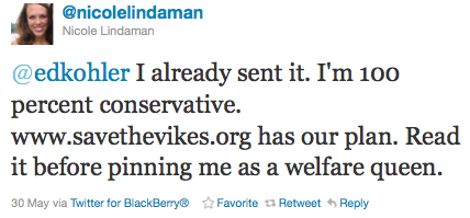 Nicole Lindaman Doesn't Like Being Called a Welfare Queen