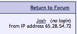 Jim Bratz / Josh Hewitt IP Address 65.28.54.72