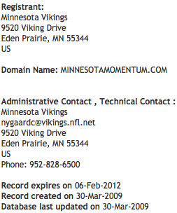minnesotamomentum.com Domain Registration