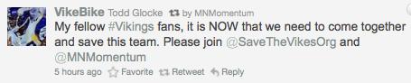 @MNmomentum retweeting @Vikebike's plea