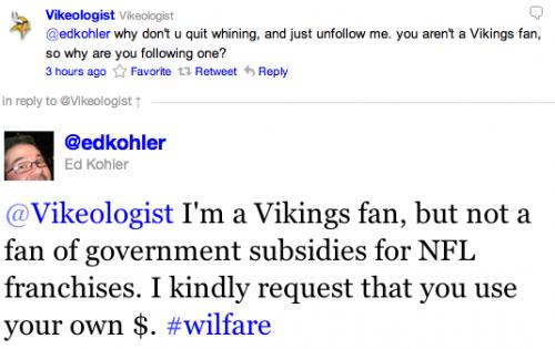 @edkohler to @vikeologist