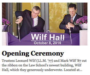 Wilf Hall Ribbon Cutting Ceremony