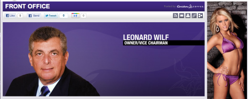Leonard Wilf Owner/Vice Chairman Vikings