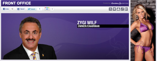 Zygi Wilf Vikings Owner/Chairman
