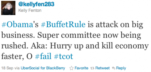 #Obama's #BuffetRule is attack on big business. Super committee now being rushed. Aka: Hurry up and kill economy faster, O #fail #tcot