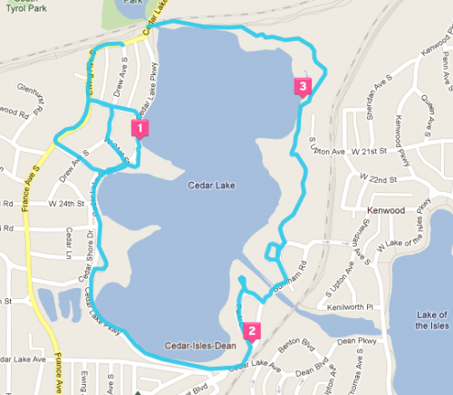 Minneapolis Cedar Lake Loop
