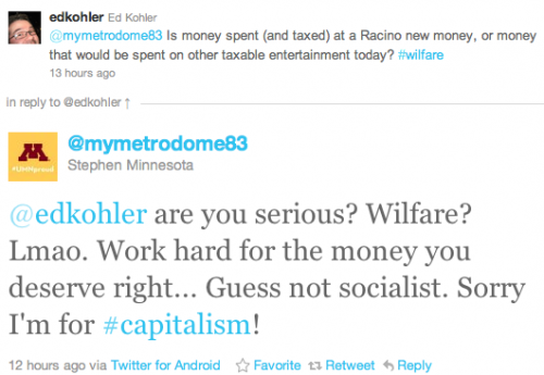 @edkohler are you serious? Wilfare? Lmao. Work hard for the money you deserve right... Guess not socialist. Sorry I'm for #capitalism!