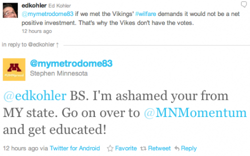 @edkohler BS. I'm ashamed your from MY state. Go on over to @MNMomentum and get educated!