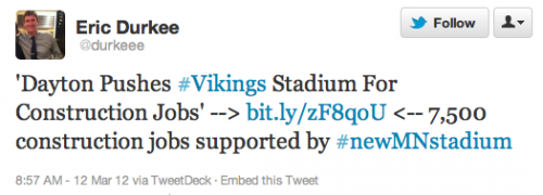 7,500 construction jobs supported by #newMNstadium