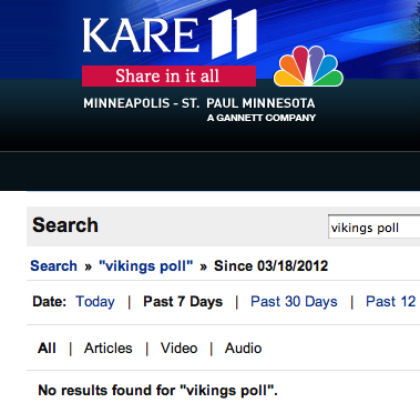 KARE 11 Vikings Stadium Poll Results