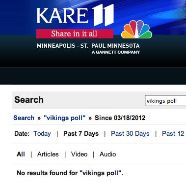 KARE 11 Vikings Stadium Poll Results
