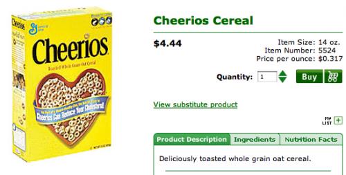 Cheerios at Coborns