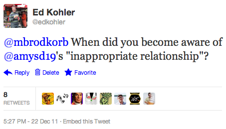 "@mbrodkorb When did you become aware of @amysd19's ""inappropriate relationship""?"