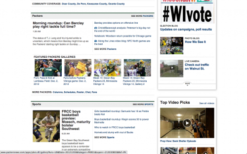 Packers and Sports Sections