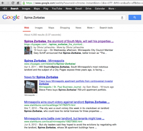 Spiros Zorbalas on Google
