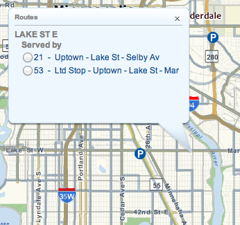Routes Serving Lake Street