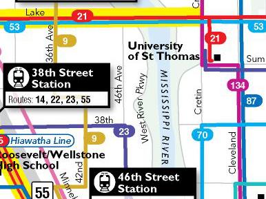 Metro Transit Map Routes