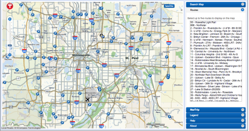 Interactive Route Finders