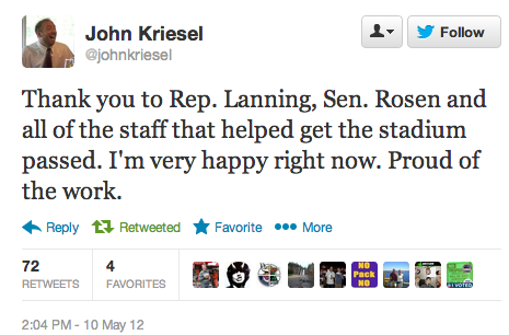 Rep John Kriesel Proud of e-pulltabs exploitation