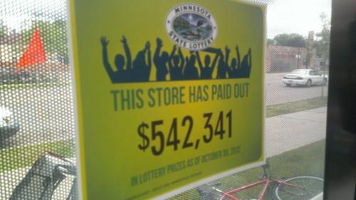 Minnesota Lottery Payouts Signs