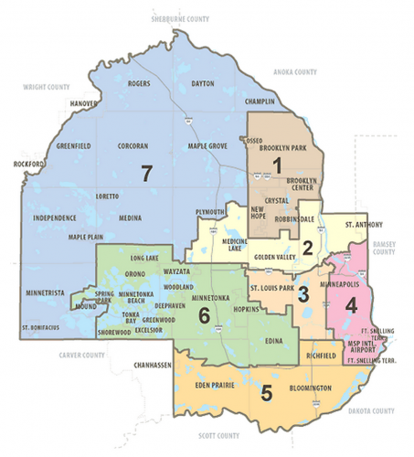 Hennepin County Board Map