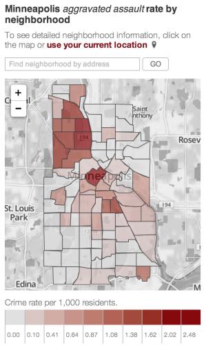 Minneapolis Crimes - Aggravated Assault