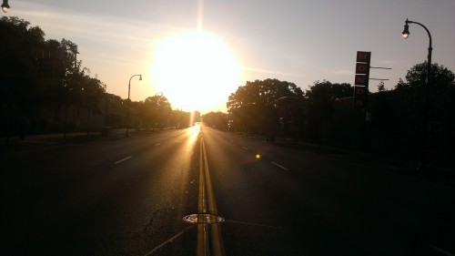 Looking East on East Lake Street at 7:27am on September 7, 2013