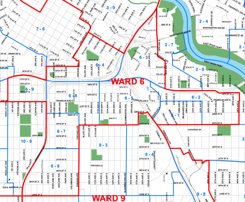 Minneapolis Ward 6 Precinct Map