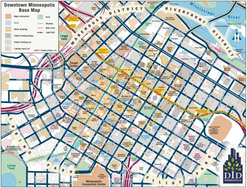 Downtown Minneapolis Map
