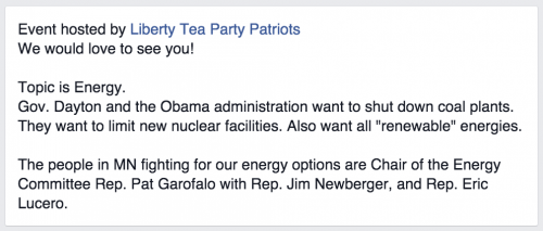 Tea Party Patriots Energy Event